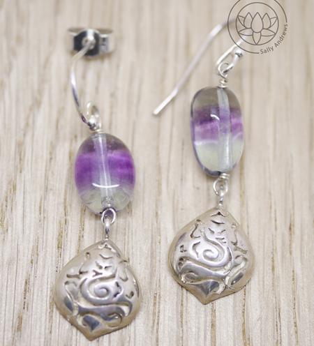 Ganesh Silver Drop Earrings