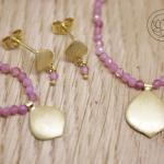 18ct Yellow gold Suite, Necklace, Bracelet, Stud Earrings